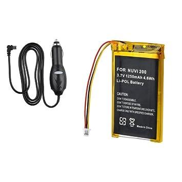 Para GPS Garmin Nuvi 250, 250W-Batería de ion de litio ...