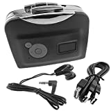 Cassette to MP3 Converter High Fidelity USB Cassette To Stero MP3 Walkman Converter Player Plug and Play Function No Need Computer + Gift Headset (Black)