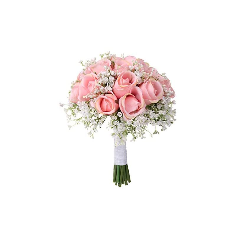 silk flower arrangements fake flower,fheaven wedding bouquet bouquet,crystal rose pearl bridesmaid wedding bouquet, artificial silk flower (b)