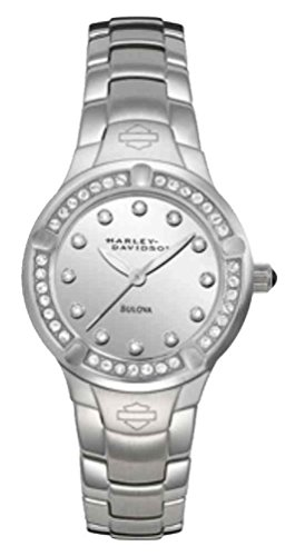 Harley-Davidson Women's Crystal Embellished Stainless Steel Watch, Silver 76L033