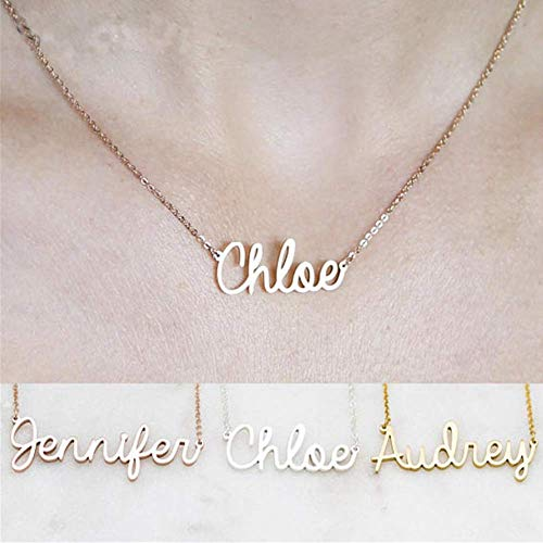 (Best Quality Custom Name Necklace Personalized Arabic Name Any Font Any Handwriting Pendants Necklaces Jewelry Gift)