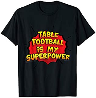 Cool Gift Table Football is my Superpower  Funny Table Football Women Long Sleeve Funny Shirt / Navy / S - 5XL