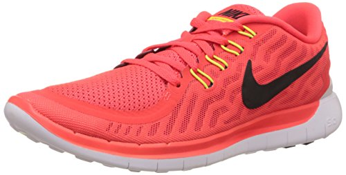 NIKE Mens Free 5.0 Ankle-High Fabric Running Shoe Bright Crimson