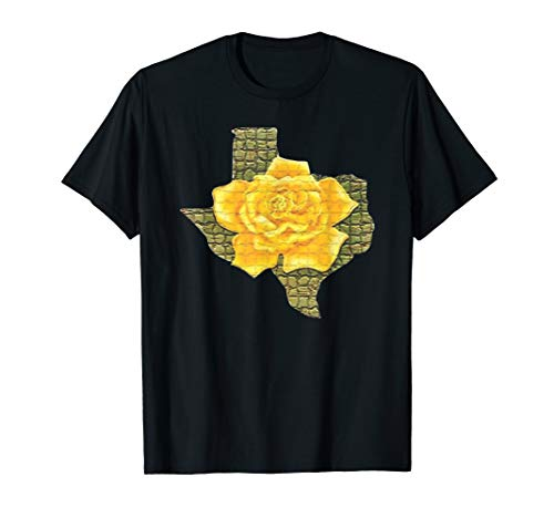 Rose Yellow T-shirt - Awesome Yellow Rose Of Texas Pattern Flower T-Shirt