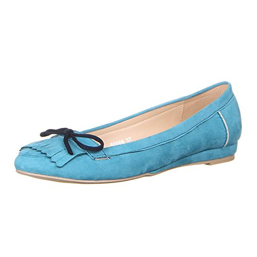 Ital-Design - Bailarinas de Material Sintético para mujer Azul - azul claro