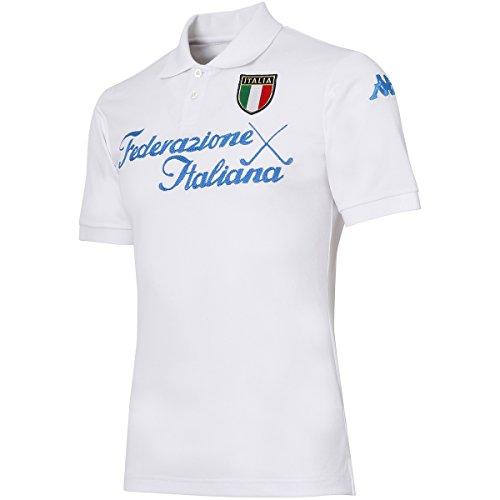 カッパ Kappa 半袖シャツ?ポロシャツ AZZURRO ストレッチ 胸レタリング半袖シャツ KG712SS26 ホワイト M