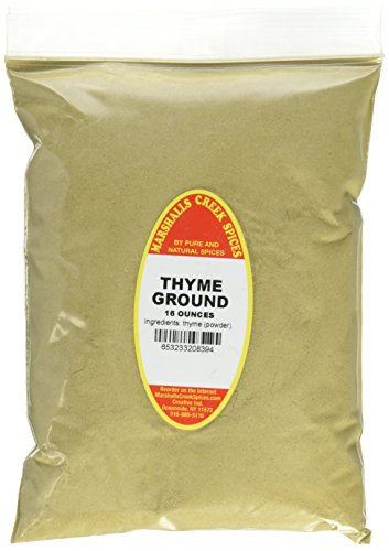 Marshalls Creek Spices Kosher Thyme Ground Refill, 16 Ounce by Marshall's Creek Spices