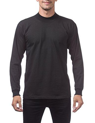 (Pro Club Men's Mock Turtleneck Long Sleeve Tee, Black, Medium )