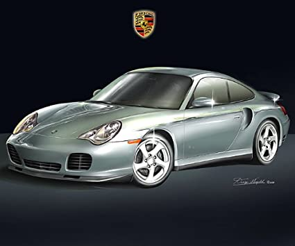 Amazon 2002 Porsche 911 Turbo Silver Art Print Poster By