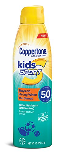 Coppertone SPORT KIDS Sunscreen Continuous Spray SPF 50 (5.5 Ounce) (Packaging may vary)