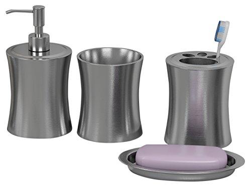 nu steel Basket Weave Bathroom Tumbler Aqua