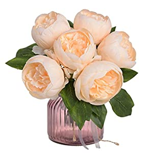 Iusun Artificial Flower 6 Head Roses Floral Bridal Wedding Bouquet Centerpieces Arrangements Party Festival Holiday Home Office Hanging Road Lead Decorations Valentines Gift Hot Ornament 98