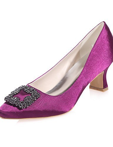 black Women's Shangyi Purple Champagne Party Evening Blue Toe Red 2 Ivory White 3 Square Wedding Shoes Black amp; 4in Heels 2in RgxPdg