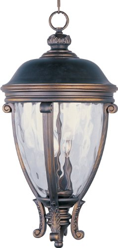 Maxim Lighting 41429WGGO Camden VX-Outdoor Hanging Lantern (Camden Vx 3 Light)