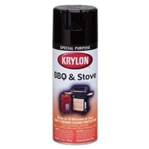 Krylon K01618000 Bbq & Stove Spray Paint, 12 Oz, Black