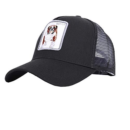 Farm Bulldog Animal Trucker Hat Snapback Baseball Cap (Adjustable, Bulldog(Black))