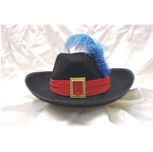 Black Musketeer Hat (BLACK FELT MUSKETEER HAT)