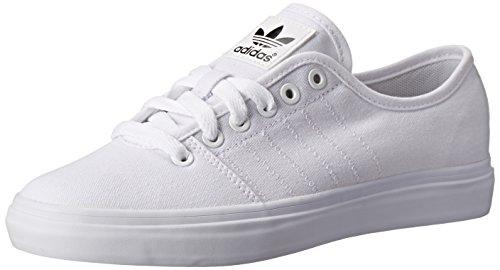 adidas Originals Women's Adria Lo W Shoe, White/Black/Gold, 9 M US