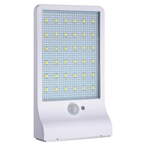 36 LED Solar Motion Sensor Lights Garden Safety Lights Outdoor Waterproof Lights 2 PCS,Nacome (White) by Nacome