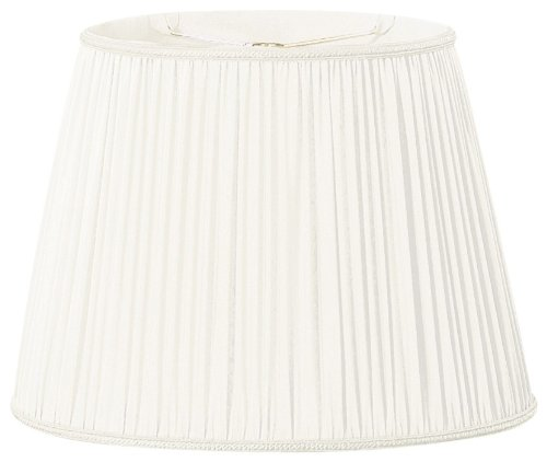 (Royal Designs Oval Pleated Designer Lamp Shade, White,  (9x11)x(10.5x16.25)x12)