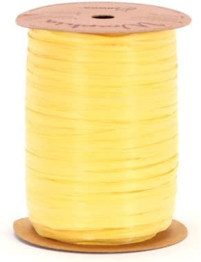 Berwick Wraphia Matte Rayon Craft Ribbon Daffodil 100-Yard Spool