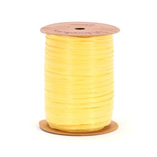(Berwick Offray 1/4'' Wide Matte Raffia Ribbon, Daffodil Yellow, 100 Yards )
