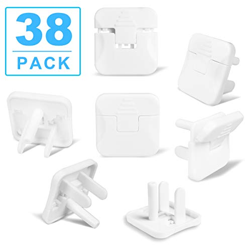 Outlet Covers Babepai 38-Pack Clear Child Proof Electrical Protector Safety Improved Baby Safety Plug Covers