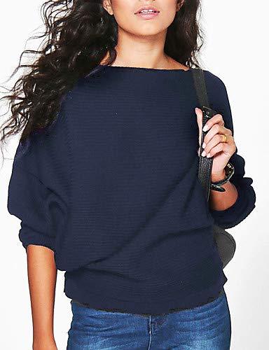 Blue YFLTZ Blouse Unie Femme Couleur UqrxUwn