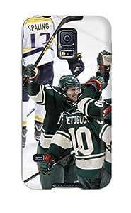 Excellent Design Minnesota Wild Hockey Nhl (57) Phone Case For Galaxy S5 Premium Tpu Case