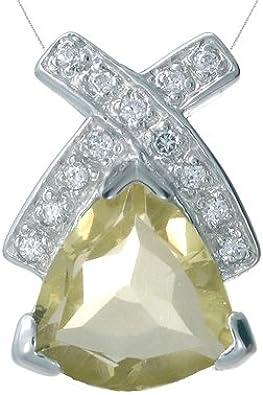 Shine Jewel Designer Lemon Quartz 925 Sterling Silver Jewelry Pendants