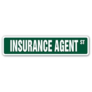INSURANCE AGENT Circle Sign insure guaranty man annunity life homeowners gift