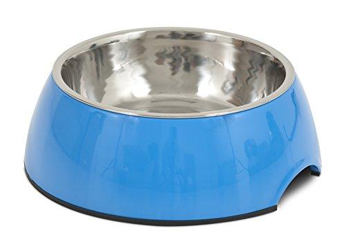 Petmate 14.5 oz Italia Bowl, Medium, Blue For Sale