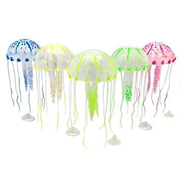 OneMoreT 2019 - Figura decorativa para acuario (silicona), diseño de medusas, rosa: Amazon.es: Instrumentos musicales