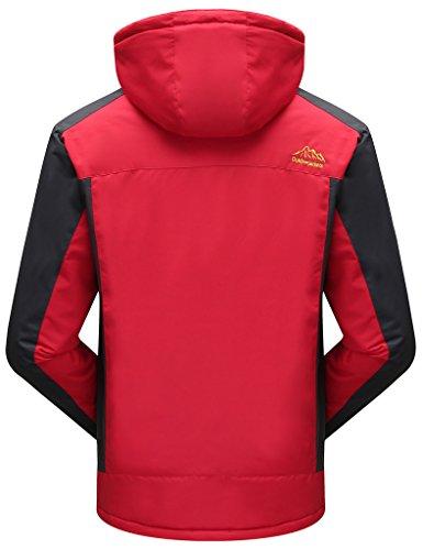 Alpinismo Sawadikaa Libre de Deporte Nieve Ropa Al Rojo Esquí Lana Impermeable de Chaqueta Capa Aire de Excursionismo Chaqueta Hombre nvrwvI0f