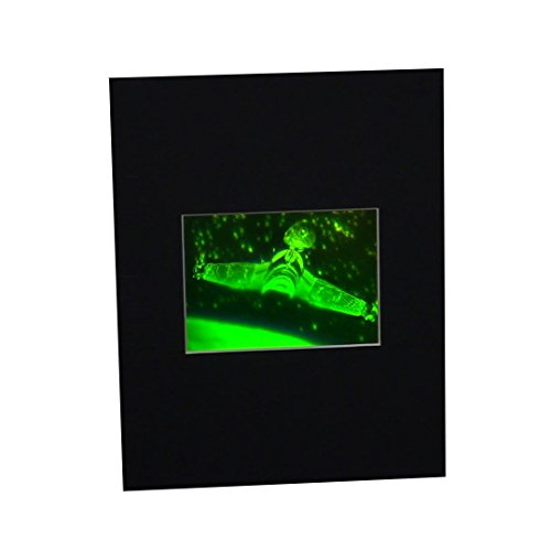 3D Star Trek Klingon Bird of Prey (Star Trek) Hologram Picture (MATTED), Collectible Photopolymer Type Film