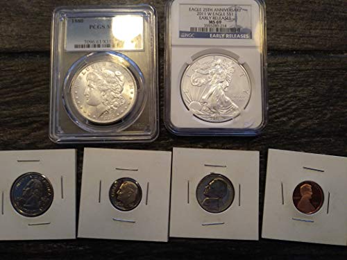 2011 Various Mint Marks American Silver Eagle MS69 Early Release