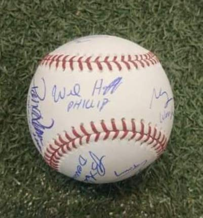 (The Sandlot (10 Cast Members) Autographed Rawlings Official Major League Baseball - JSA Authenticated)