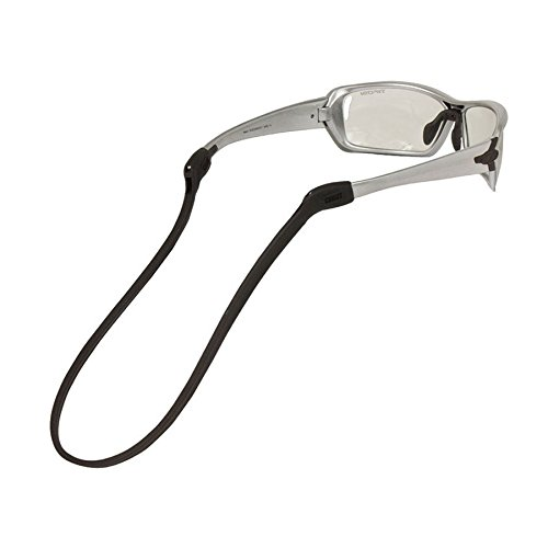 CHUMS Safety 12308100 Dual Port Switchback Silicone Eyewear Retainer, Black, 7'' x5.5'' x1'', Silver, 7'' x5.5'' x1'' by CHUMS Safety