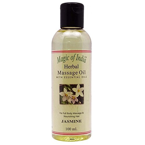 (Magic Of India Jasmine Herbal Massage Essential Oil For Full Body - 100 ml )