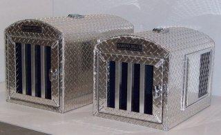 Diamond Deluxe~Aluminum Single Hole Dog Box, Dog Crate, Dog Carrier, Dog House - medium