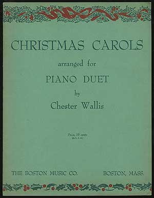 Christmas Carol Book Cover - Christmas Carols Arranged For Piano Duet
