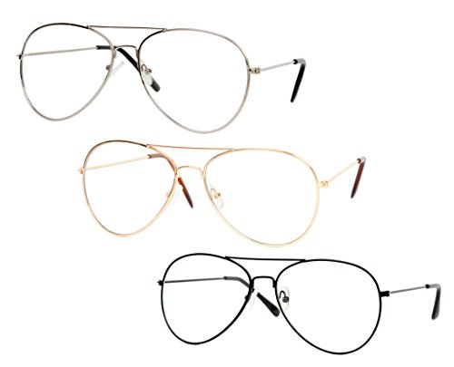 Gravity Shades Clear Lens Aviator Sunglasses, - Sunglasses Prescription Aviator