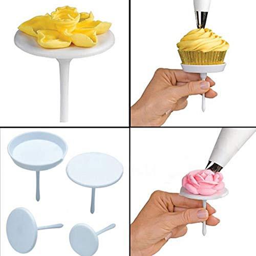 (1 lot 4 Pcs/LOT Cake Cupcake Stand Icing Cream Flower Nails Sugarcraft Decorating Tool P0.3)