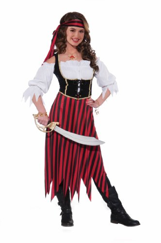 Women Pirate Outfits (Forum Novelties Women's Teenz Pirate Maiden Costume, Multicolor, Teen)