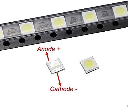 Laliva 50pcs 2W 6V 3535 TV LED SMD Diodos Blanco Frío LCD TV 150lm Televisao TV Retroiluminación Diod lámpara de reparación aplicación: Amazon.es: Bricolaje y herramientas