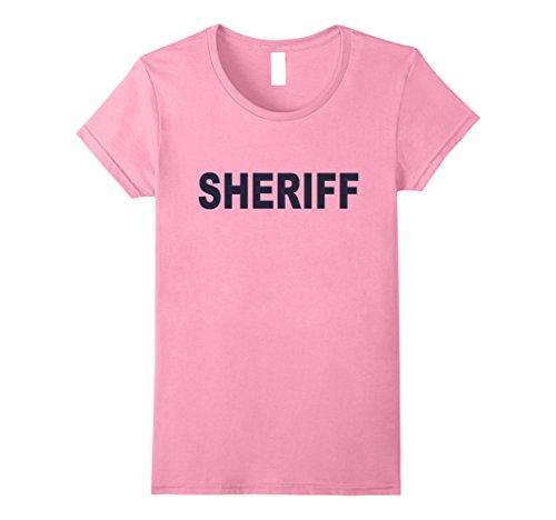Color Guard Costumes Uniforms (Womens Sheriff T-shirt Fashion Guards Uniform Unisex Top Tee Medium Pink)