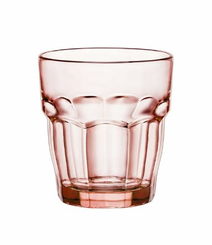 Bormioli Rocco Rock Bar Lounge Rocks Glasses, Peach, Set of
