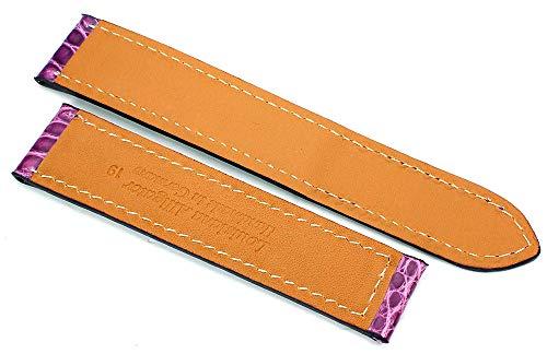 19 mm alligator armband lämpligt för Cartier hopfällbart spänne tyskt handarbete violett