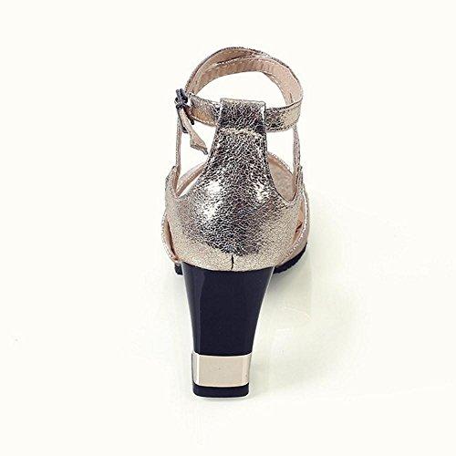 Coolcept Mujer Correa de Tobillo Sandalias Zapatos Gold