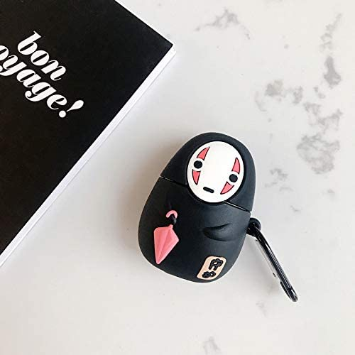 Soft Silicone Cover Earphone Protection Skin for AirPods1/&2 Super Cute Creative Spirited Away Character Umbrella No Face Man AirPods Case UR Sunshine AirPods Case